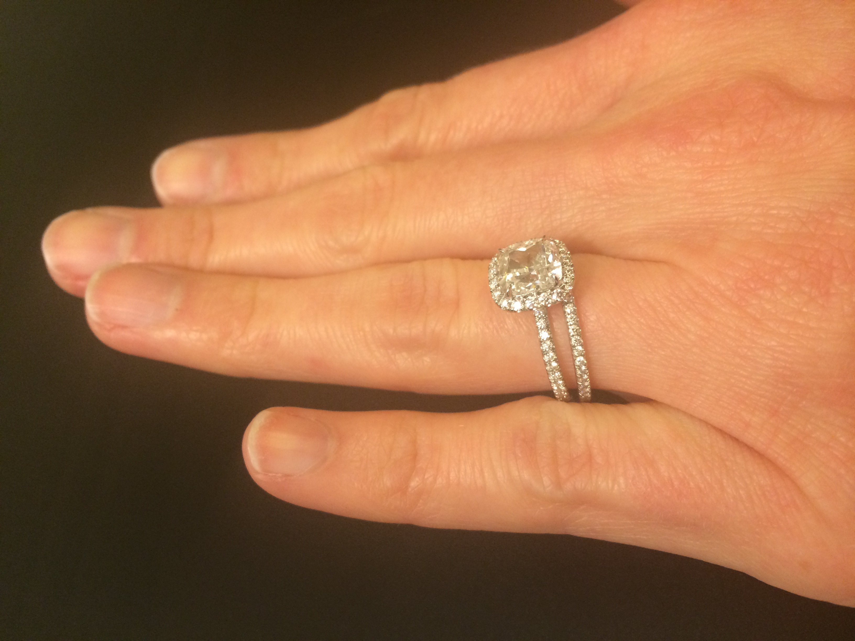 Featured Photo of Cushion Cut Diamond Micropavé Engagement Rings