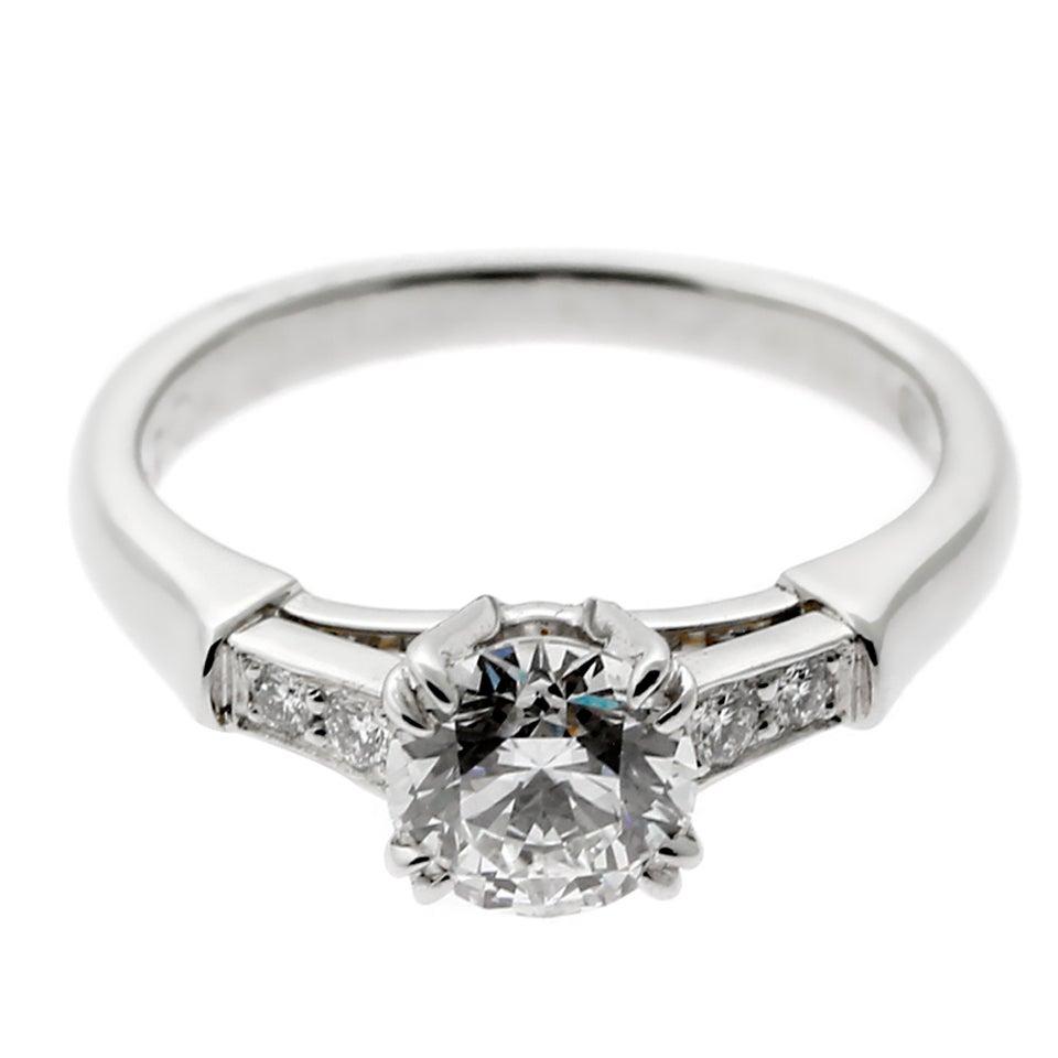 Harry Winston Diamond Platinum Engagement Ring With Winston Blossom Diamond Engagement Rings (View 8 of 25)