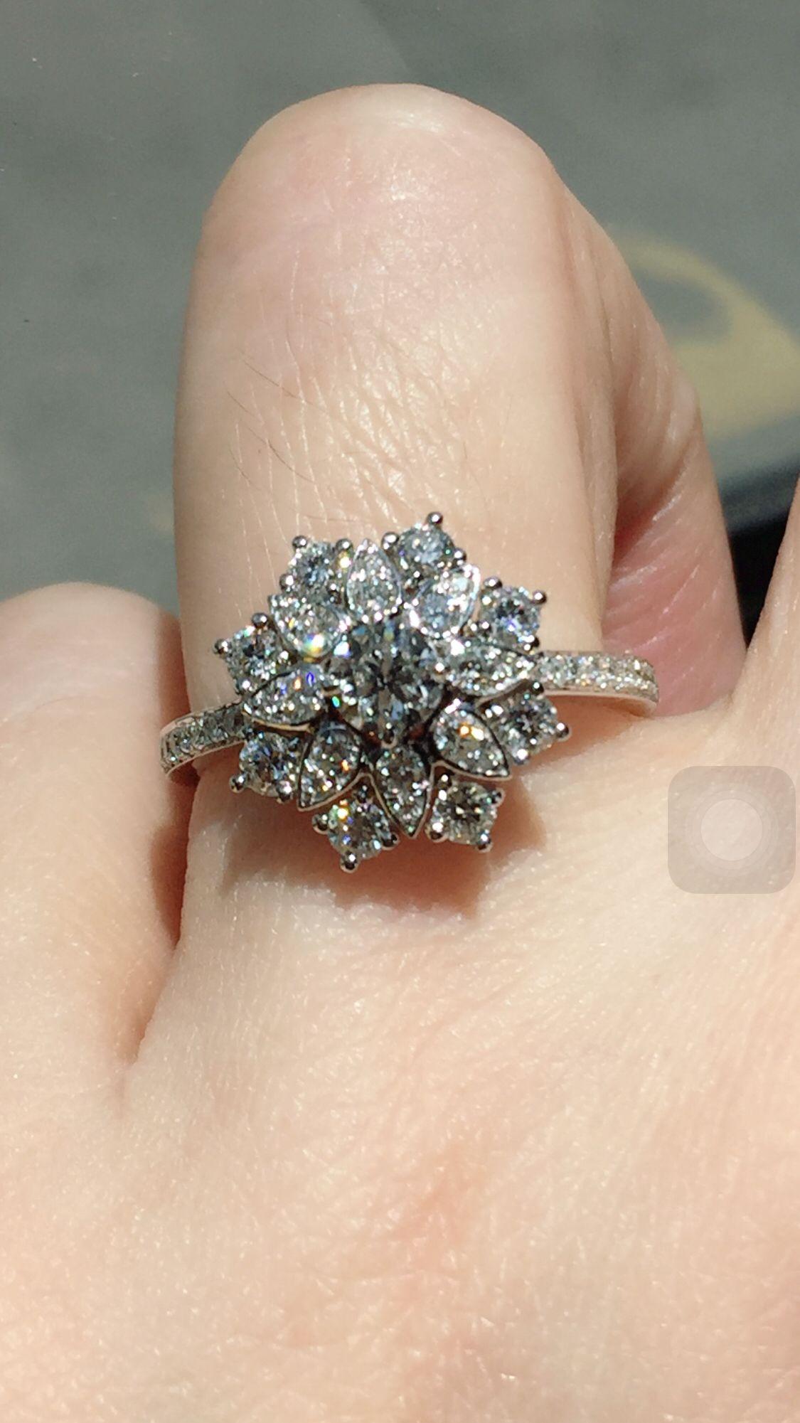Harry Winston Lotus Diamond Ring | Fine Jewellry Designed Pertaining To Winston Blossom Diamond Engagement Rings (View 13 of 25)