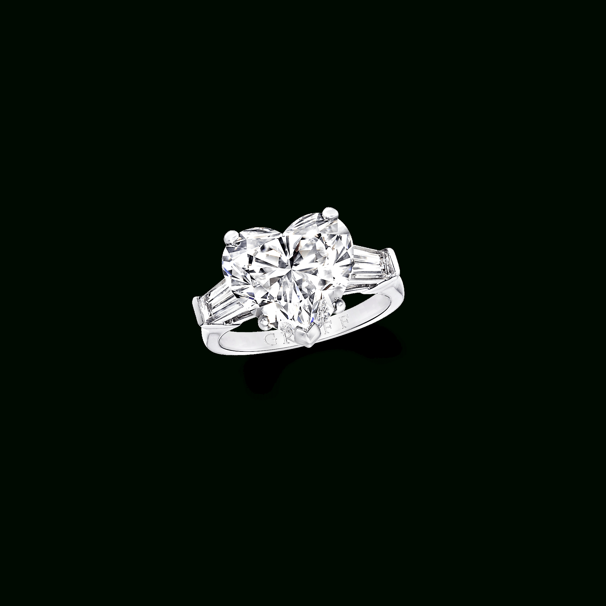 Heart Shape Diamond Ring | Classic Graff | Graff With Heart Shaped Engagement Rings With Tapered Baguette Side Stones (View 8 of 25)