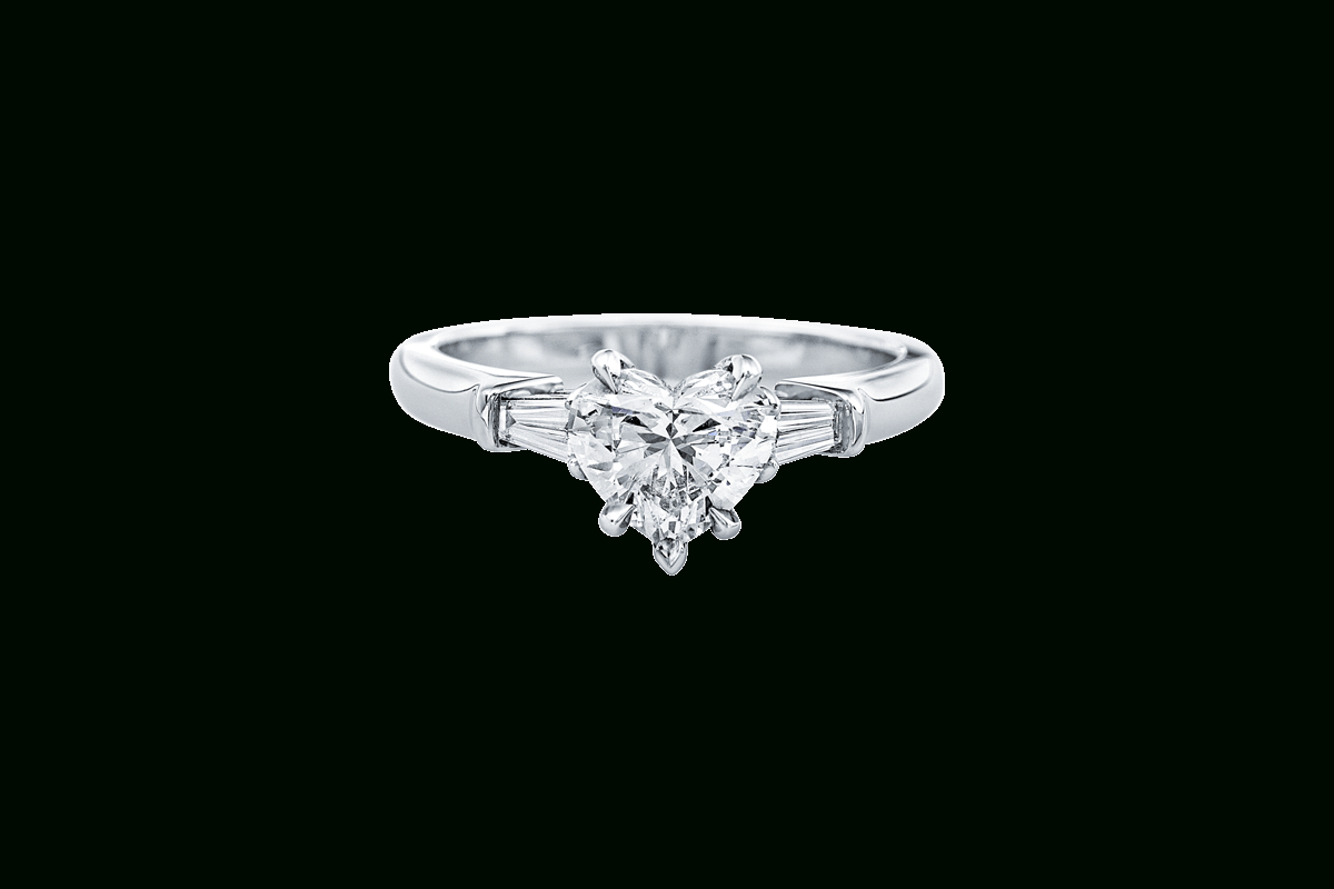 Heart Shaped Diamond Engagement Ring | Harry Winston Intended For Heart Shaped Engagement Rings With Tapered Baguette Side Stones (View 2 of 25)