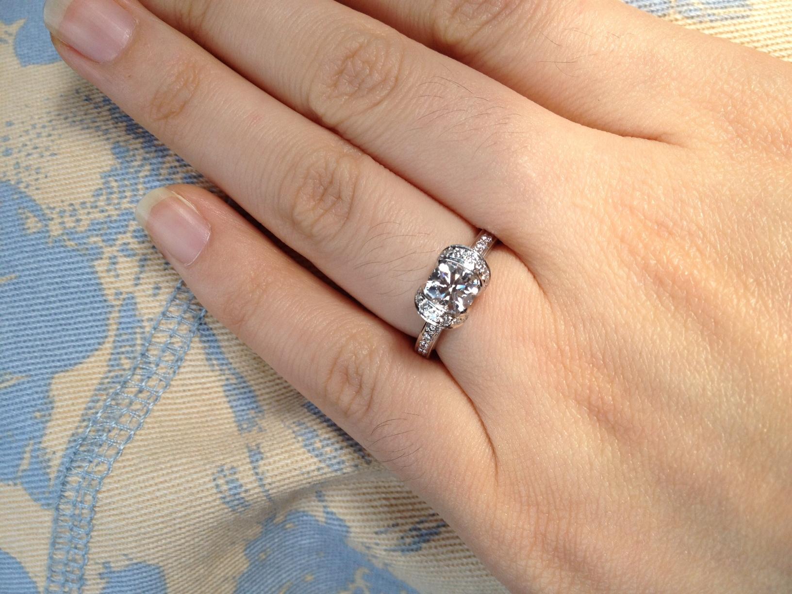 Help Me Choose A Blue Nile Diamond/platinum Wedding Band! For Newest Ribbon Diamond Wedding Bands (View 12 of 25)