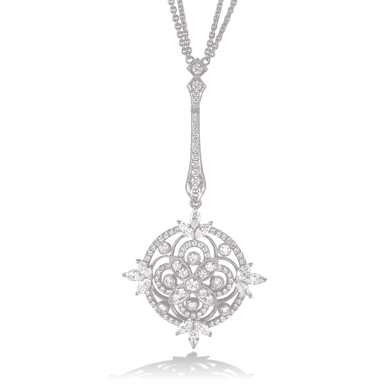 Heritage 18K Gold And Diamond Sautoir Necklace – Hamilton Within Recent Diamond Sautoir Necklaces In Platinum (View 15 of 25)