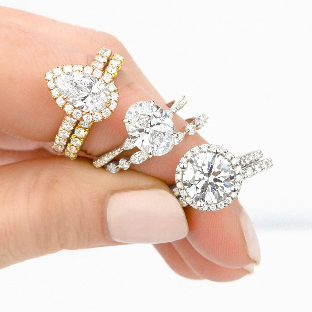 How To Match A Wedding Band & Engagement Ring | Brilliant Earth Throughout Most Up To Date Round Brilliant Single Diamond Wedding Bands (View 24 of 25)