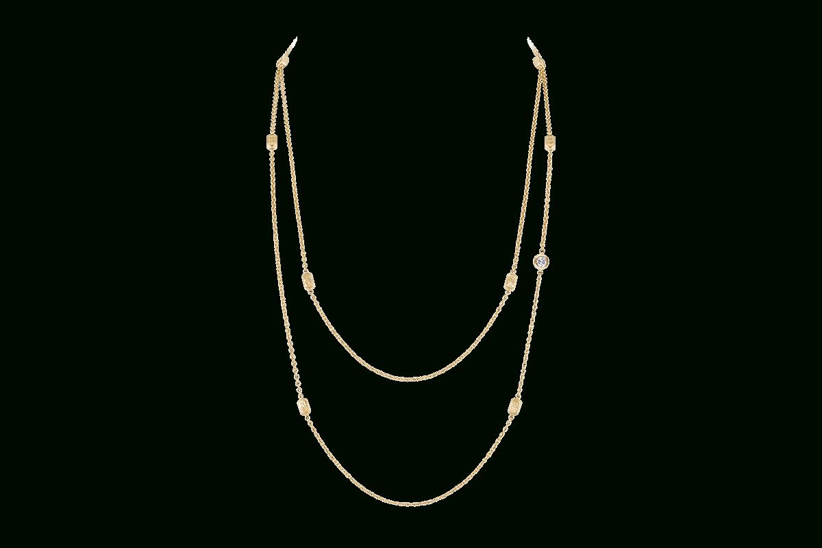 Hw Logo Yellow Gold Diamond Sautoir | Harry Winston Regarding Most Recent Diamond Sautoir Necklaces In Yellow Gold (View 9 of 25)
