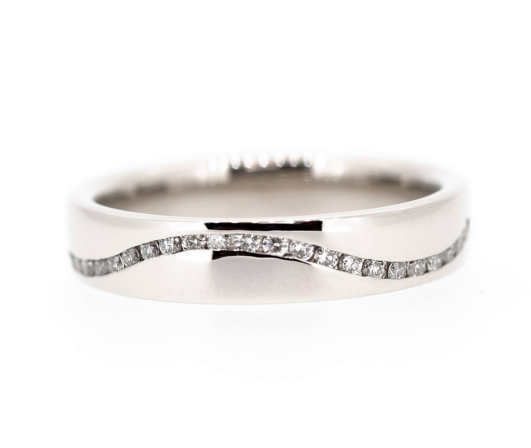 Iain Henderson Designs – Picture Gallery With Most Up To Date Wave Diamond Wedding Bands (Gallery 18 of 25)
