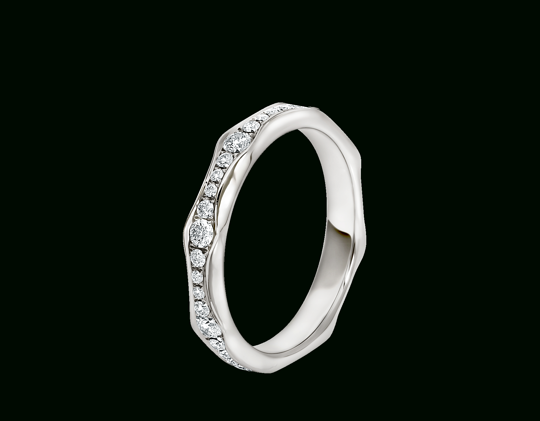 Infinito Ring Inside Latest Wave Diamond Wedding Bands With Pavé (View 8 of 25)