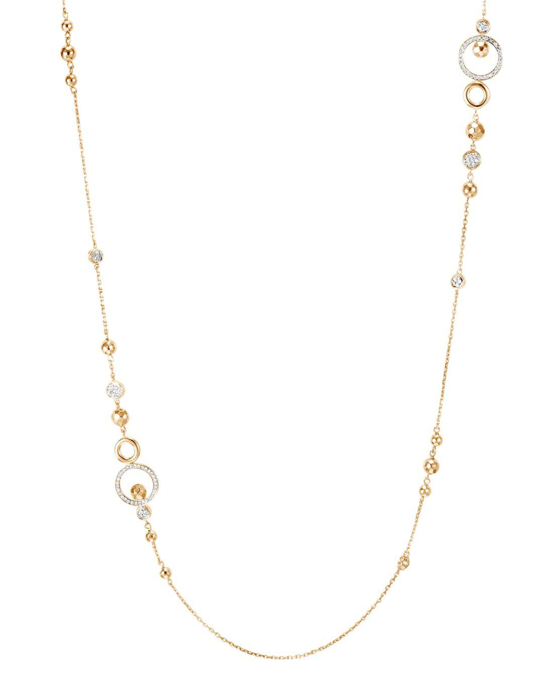 John Hardy 18k Yellow Gold Dot Pavé Diamond Sautoir Chain Pertaining To Best And Newest Yellow Gold Diamond Sautoir Necklaces (View 6 of 25)