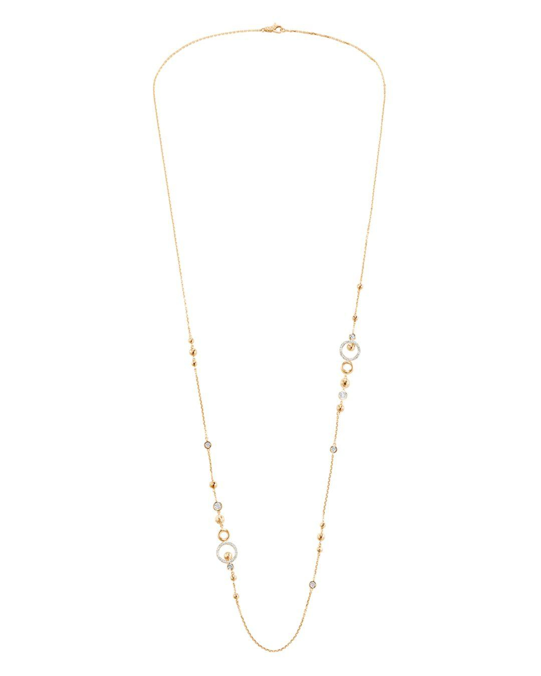 John Hardy 18k Yellow Gold Dot Pavé Diamond Sautoir Chain Pertaining To Most Up To Date Diamond Sautoir Necklaces In Yellow Gold (View 4 of 25)