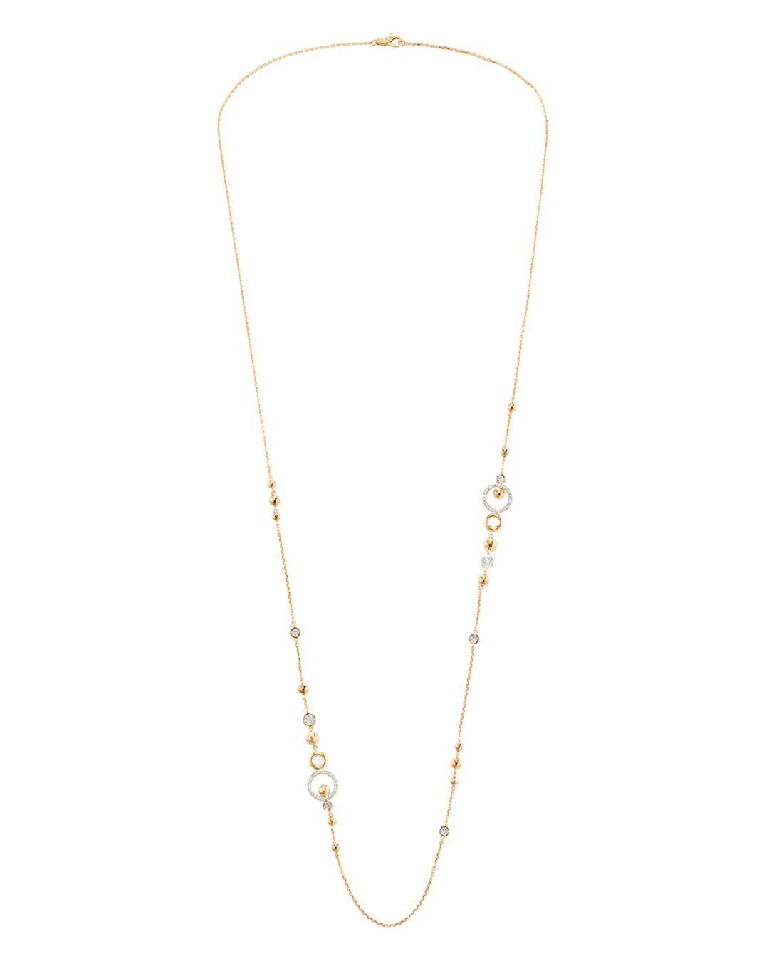 John Hardy 18k Yellow Gold Dot Pavé Diamond Sautoir Chain With Recent Yellow Gold Diamond Sautoir Necklaces (View 4 of 25)