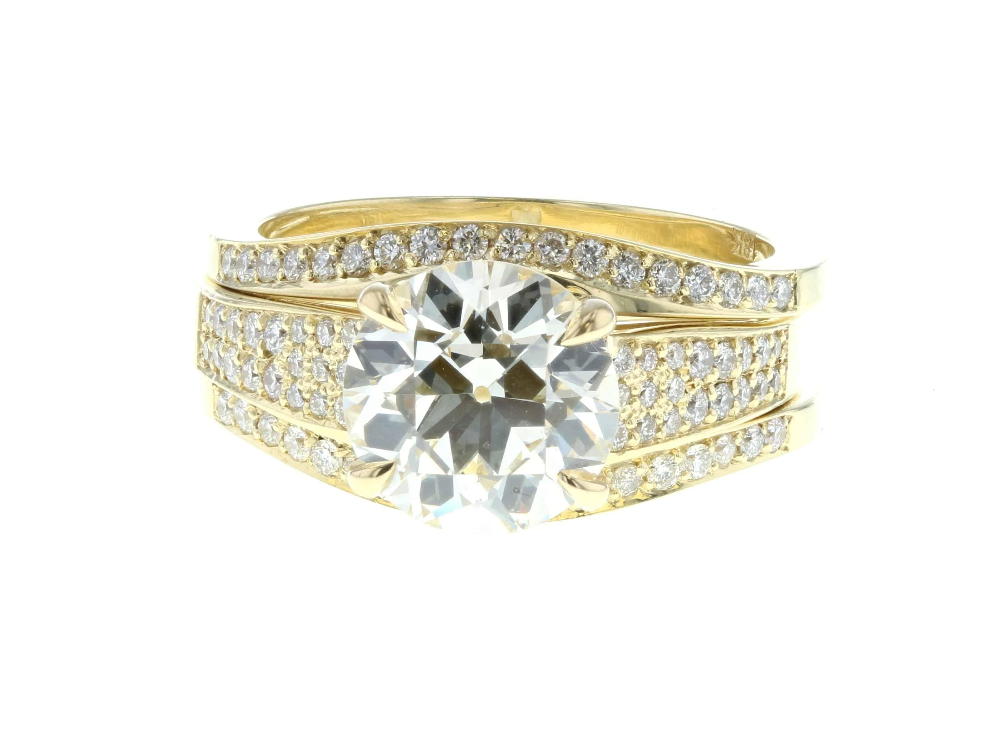 Large Diamond Engagement Ring – Concierge Diamonds Los Angeles Regarding 2018 Micropavé Diamond Large Wedding Bands (View 15 of 25)