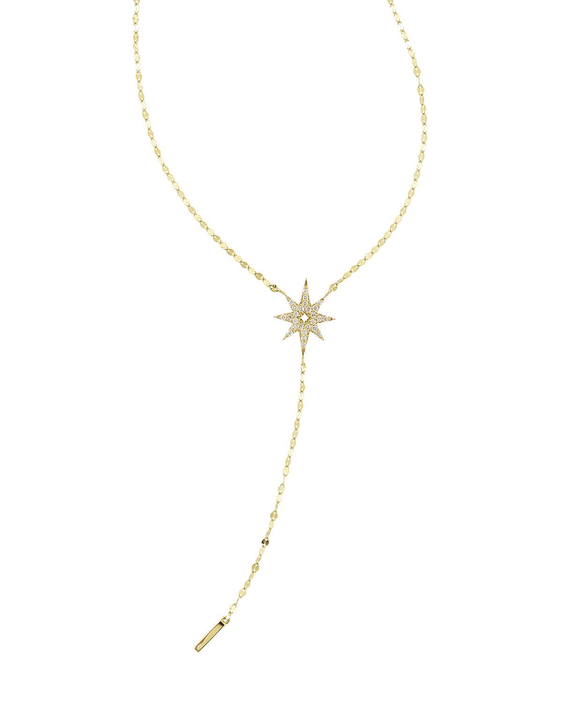 Large Diamond Star Lariat Necklace Regarding Most Popular Lariat Diamond Necklaces (View 19 of 25)