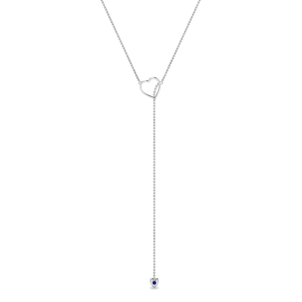 Lariat Heart Drop Necklace In Most Popular Lariat Sapphire And Diamond Necklaces (View 18 of 25)