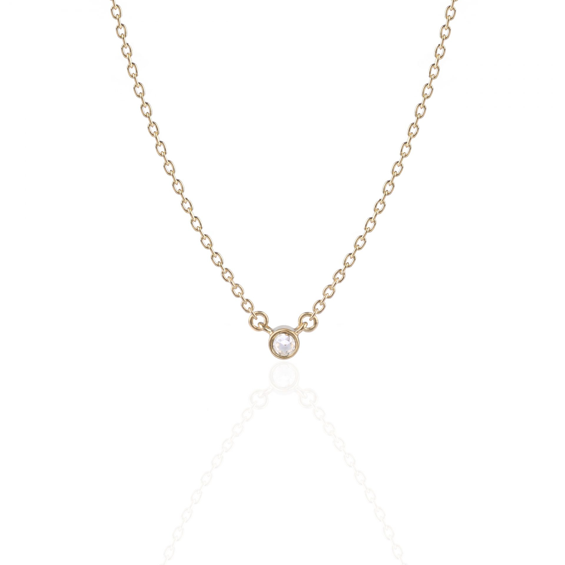 Lone Star Diamond Necklace Yellow Gold With Regard To Most Popular Diamond Necklaces In Yellow Gold (View 17 of 25)