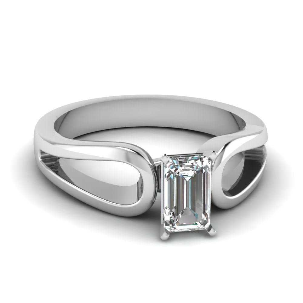 Loop Duet Ring With Regard To Solitaire Emerald Cut Engagement Rings (View 24 of 25)