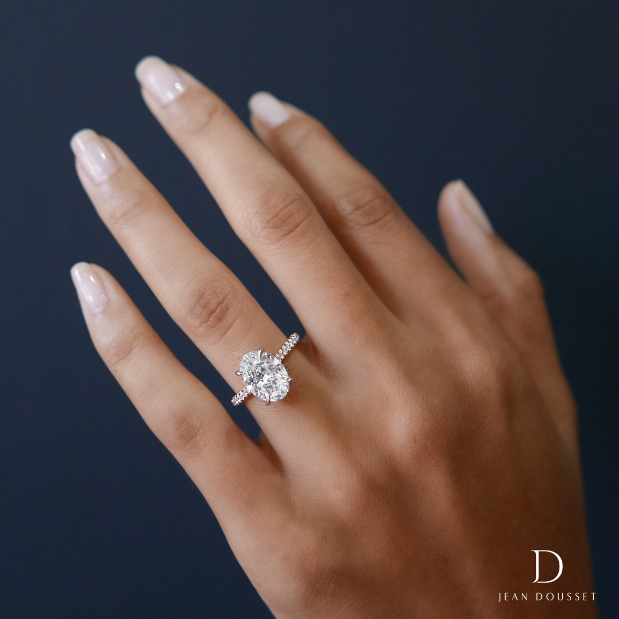 Luna Design Engagement Ring With Two Tones Of Metal And An In Oval Shaped Engagement Rings (View 12 of 25)