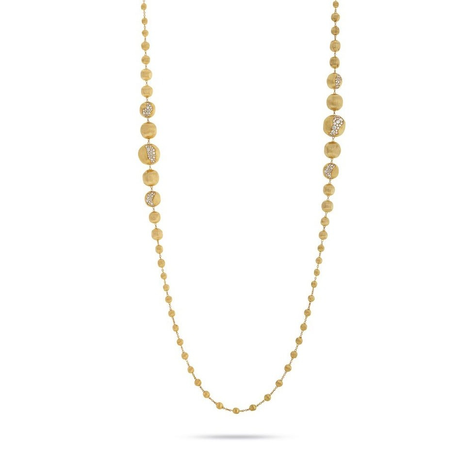 Marco Bicego Africa Constellation Yellow Gold Diamond Degrade Necklace Throughout 2019 Yellow Gold Diamond Sautoir Necklaces (View 21 of 25)