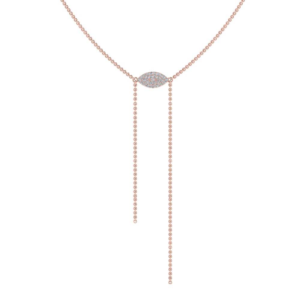 Marquise Lariat Necklace For Newest Lariat Diamond Necklaces (Gallery 1 of 25)