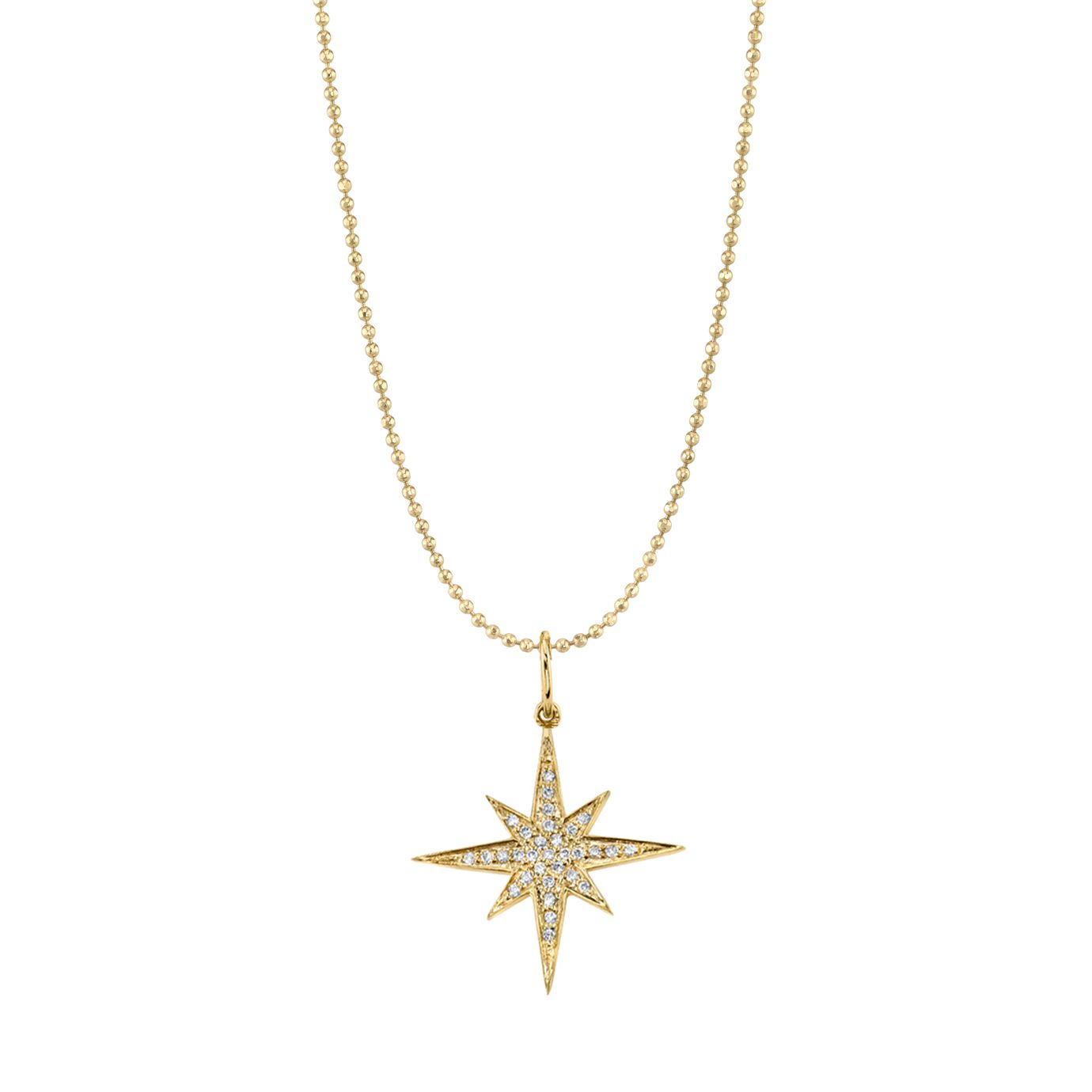 Medium Gold & Diamond Starburst Necklace Regarding Most Recently Released Medium Diamond Necklaces (View 7 of 25)