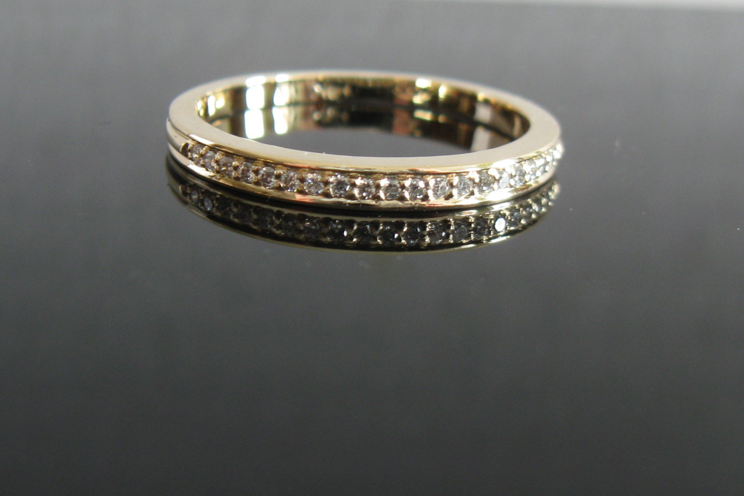 Micro Pave Diamond Eternity Ring 2mm In 14k Gold, Handmade Diamond Band, Tiny Diamond Wedding Ring, Engagement Ring, Narrow Wedding Band From Arpelc With 2017 Full Micropavé Diamond Wedding Bands (View 16 of 25)