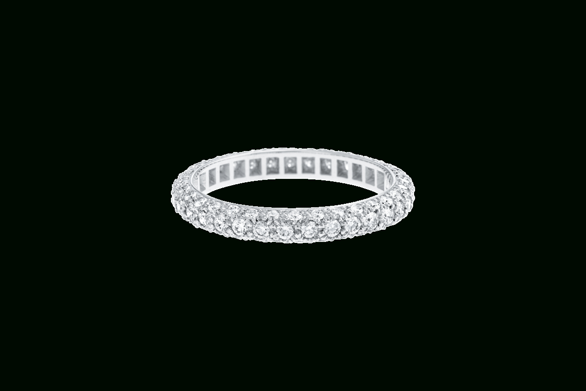 Micropavé Diamond Dome Wedding Band | Harry Winston Pertaining To Most Popular Micropavé Diamond Dome Wedding Bands (View 1 of 25)