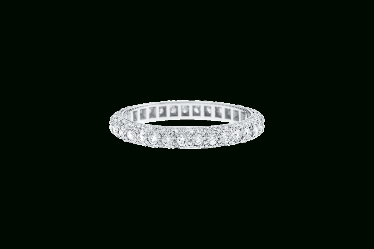 Micropavé Diamond Dome Wedding Band | Harry Winston With 2018 Micropavé Diamond Dome Wedding Bands (Gallery 2 of 25)