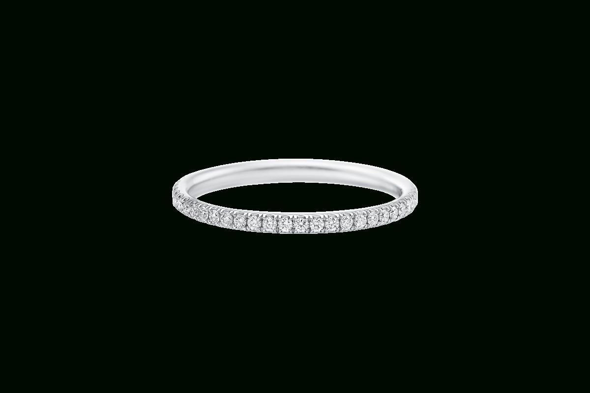 Micropavé Diamond Narrow Wedding Band | Harry Winston With Newest Micropavé Diamond Narrow Wedding Bands (View 1 of 25)