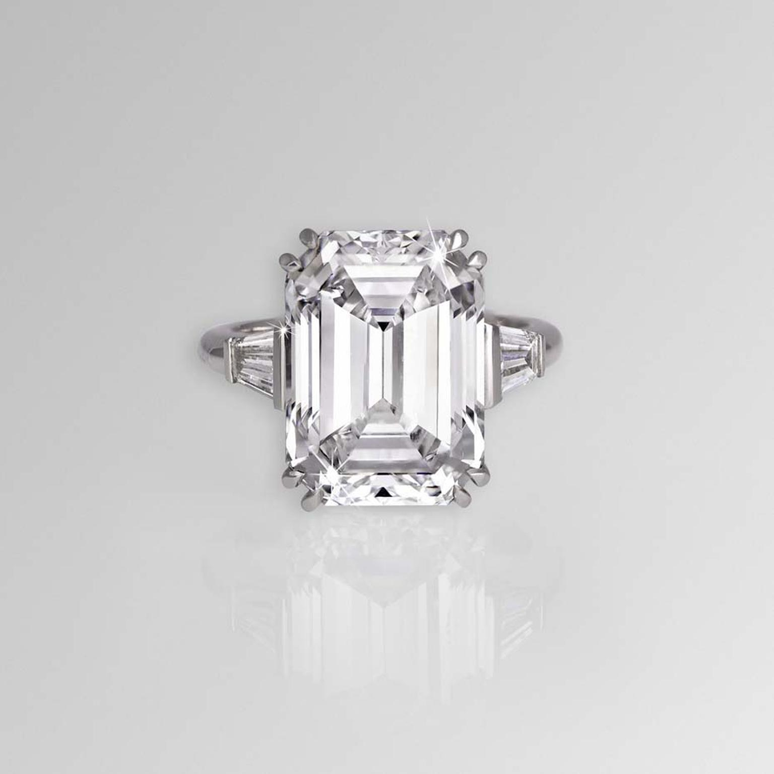 Most Beautiful Emerald Cut Diamond Ings In The World | The Pertaining To Emerald Cut Engagement Rings With Tapered Baguette Side Stones (Gallery 13 of 25)