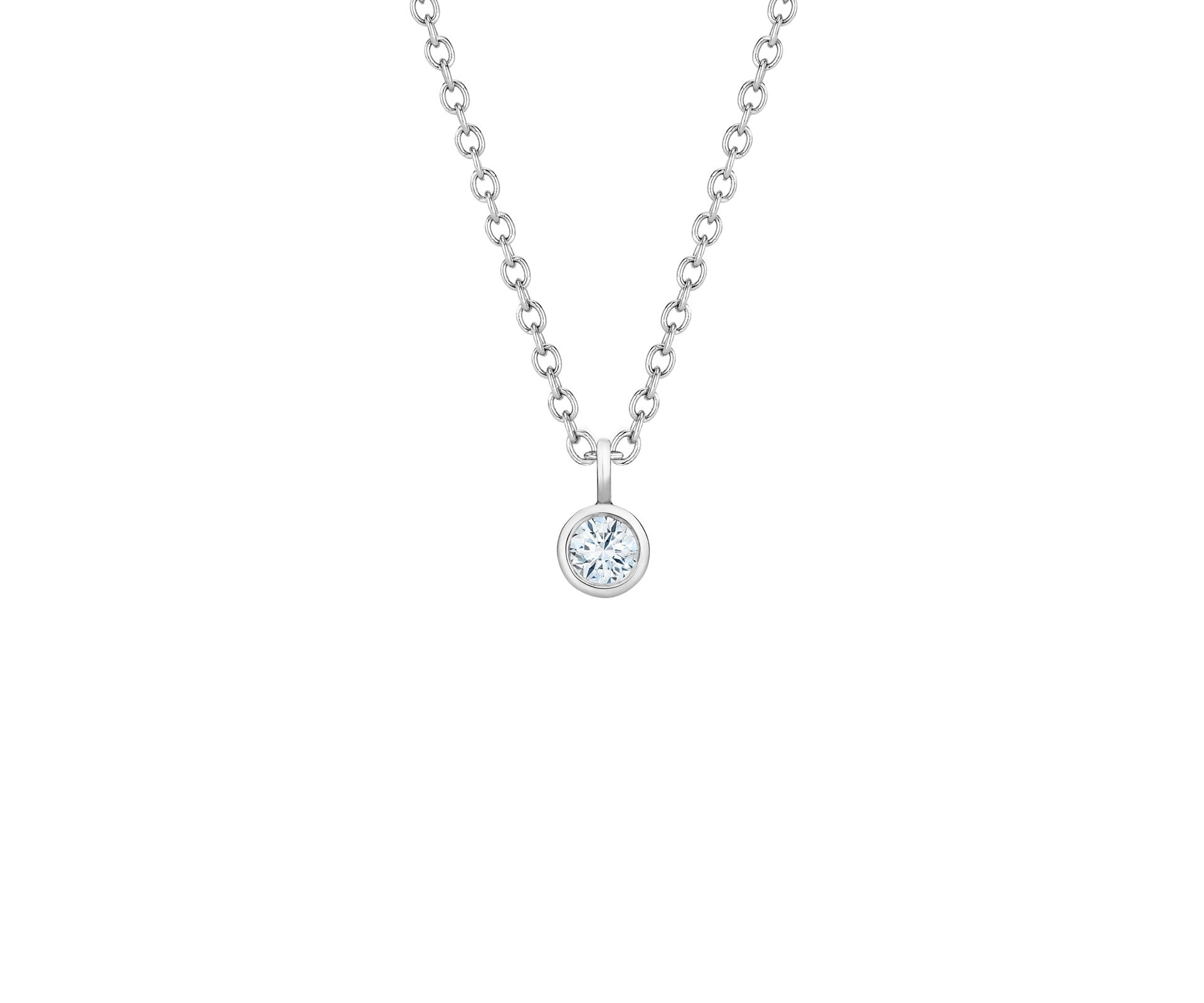 My First De Beers White Gold One Diamond Pendant With Regard To Latest Diamond Necklaces In Platinum (Gallery 25 of 25)