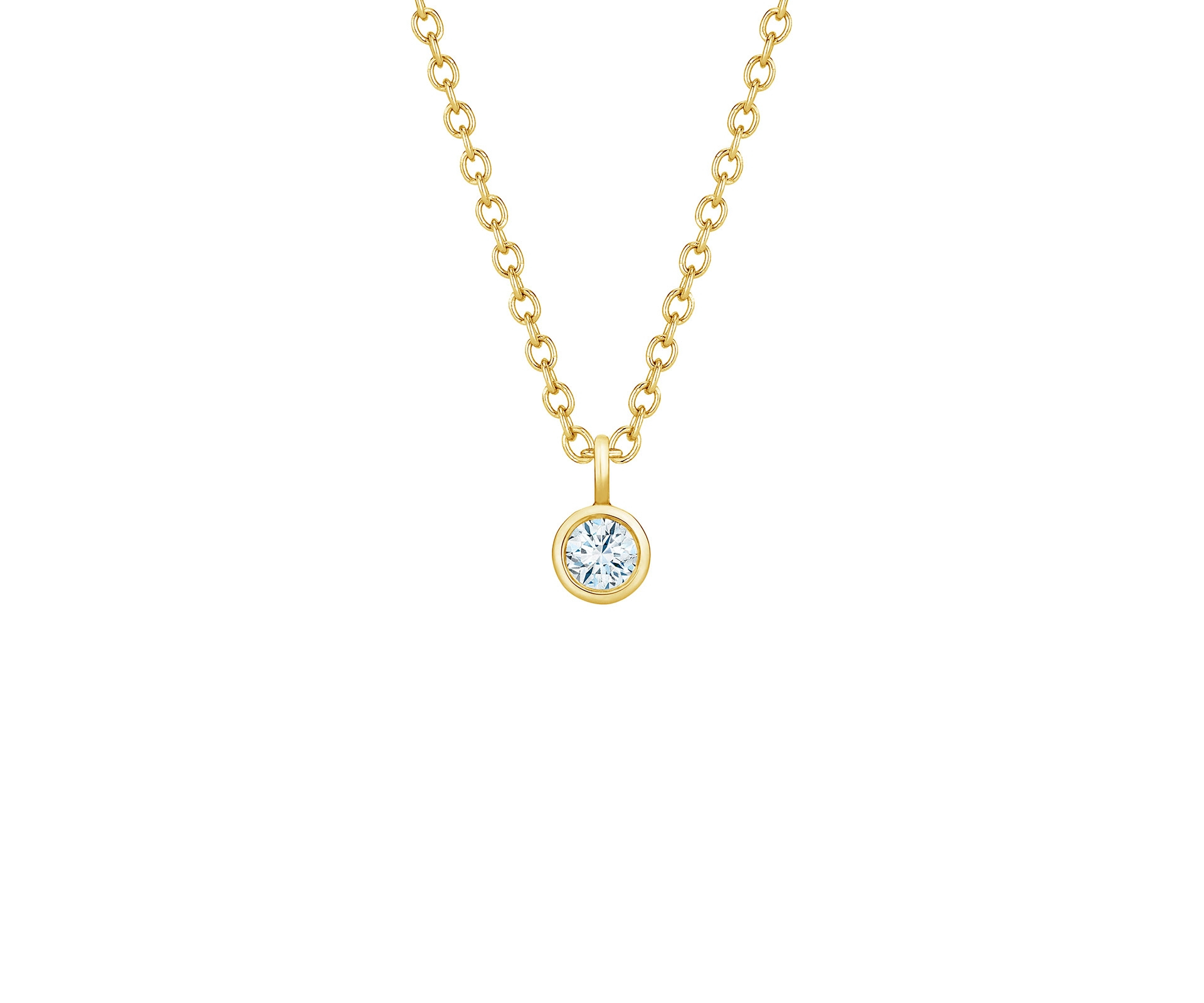 Featured Photo of Diamond Necklaces In Yellow Gold