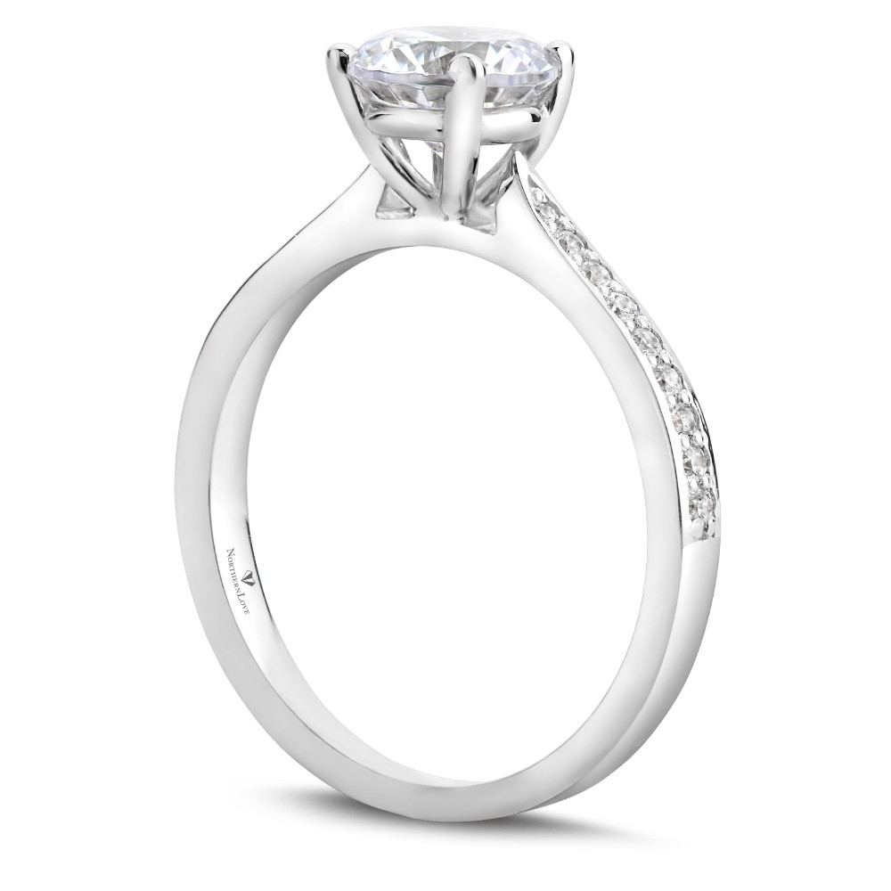 Northern Love Platinum Brilliant Cut Diamond Engagement Ring Total Carat  Weight 1.15Ct (Ea3) Intended For Brilliant Love Diamond Engagement Rings (Gallery 25 of 25)