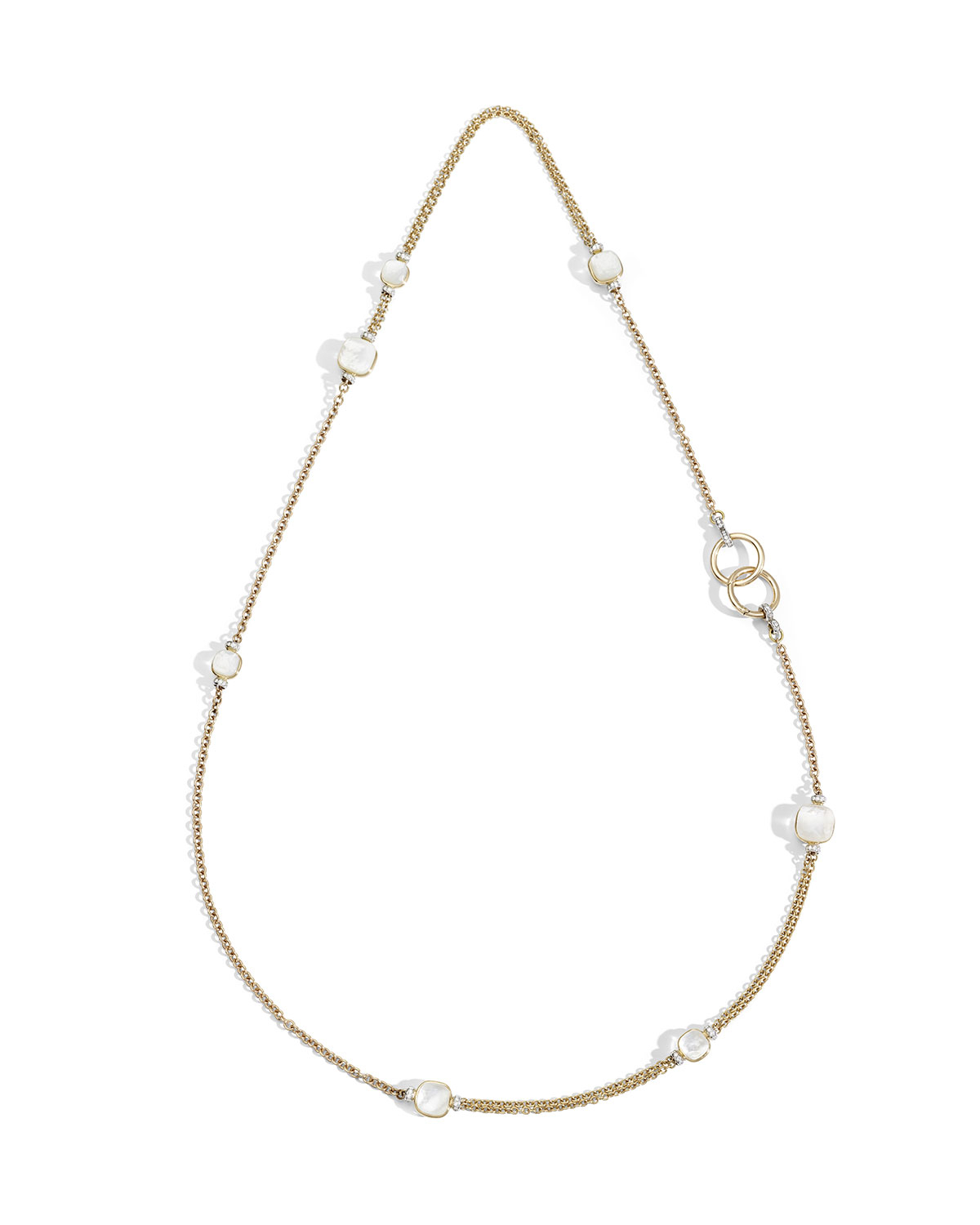 Nudo 18K White Topaz/mother Of Pearl & Diamond Sautoir Necklace Throughout Current Diamond Sautoir Necklaces In Yellow Gold (View 20 of 25)