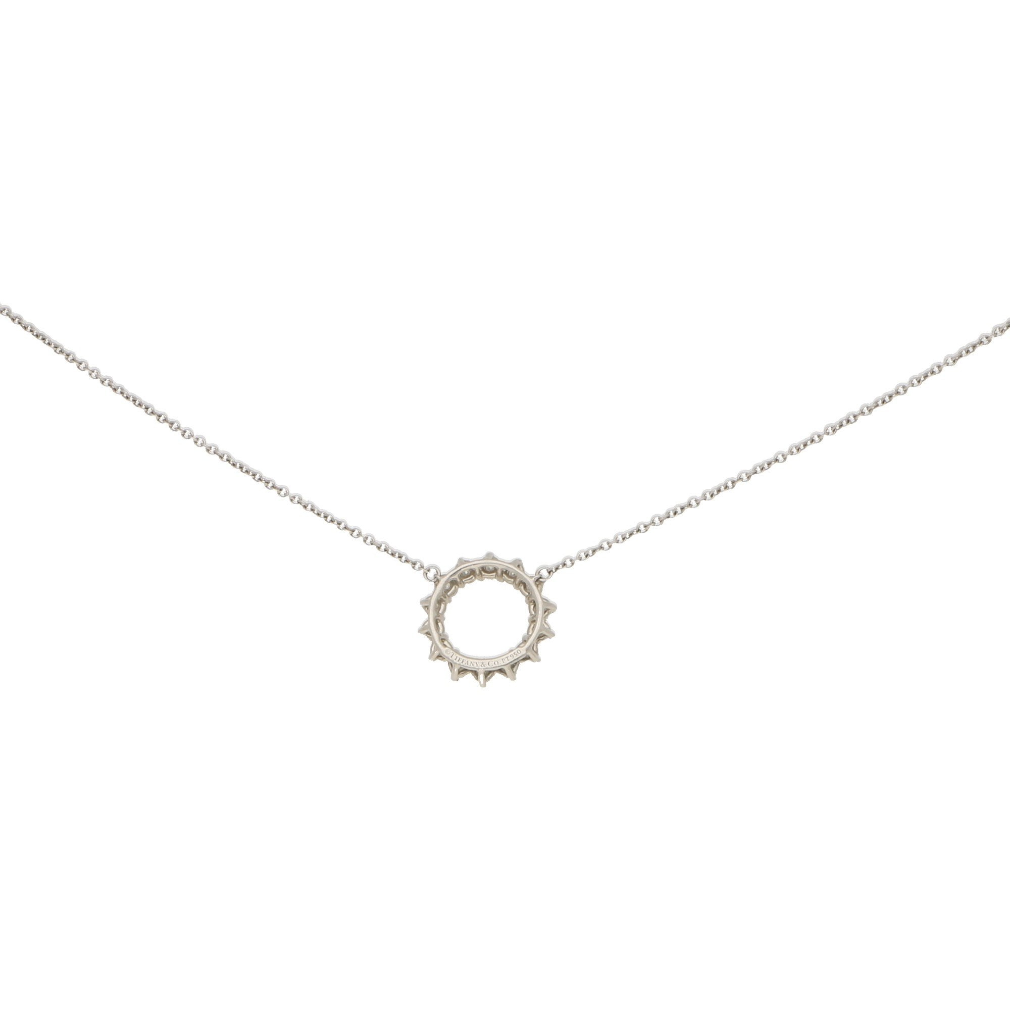 Open Circle Diamond Pendant In Platinum At Susannah Lovis Antique Jewellery In Newest Diamond Necklaces In Platinum (View 10 of 25)