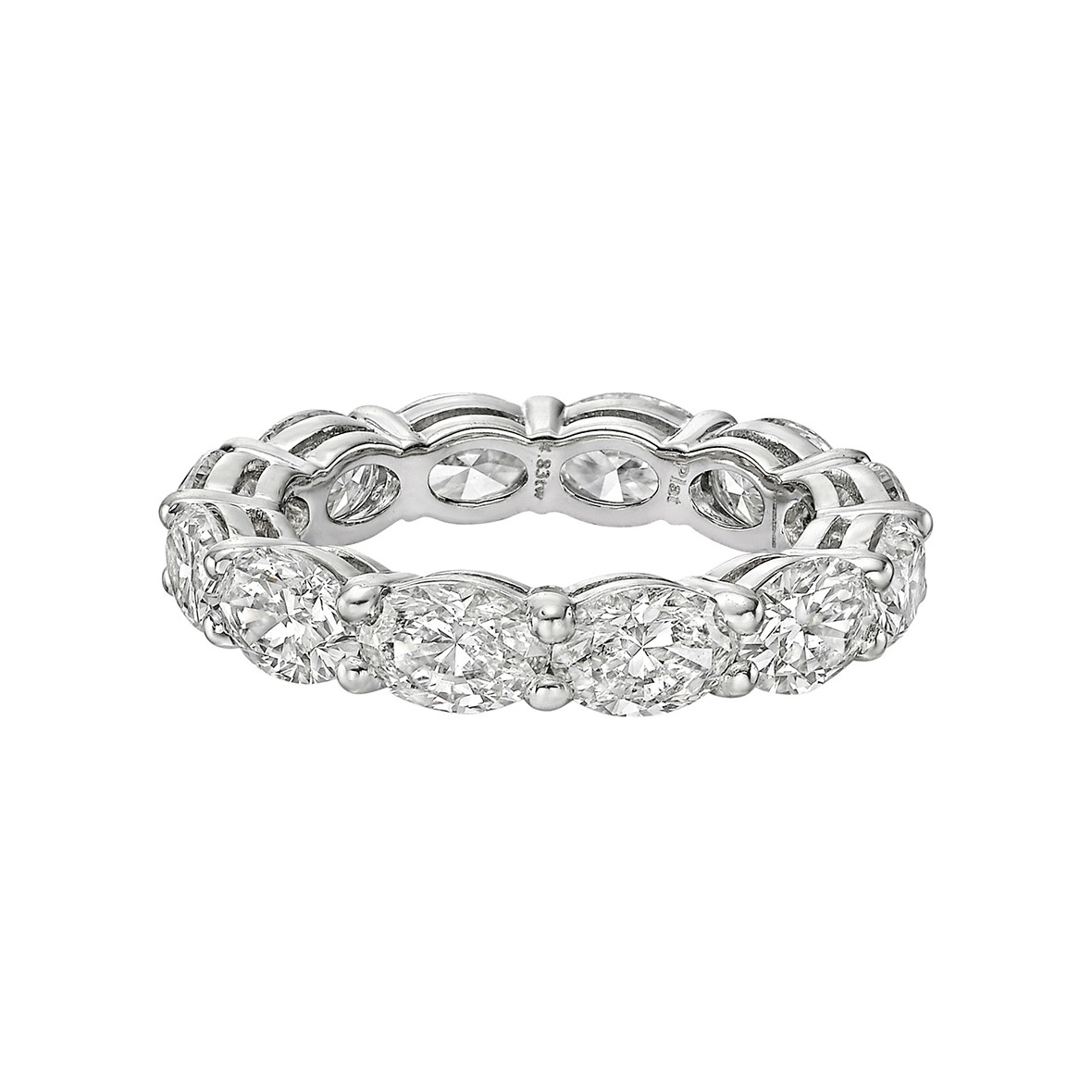 Oval Cut Diamond East West Eternity Band | Betteridge Within Most Recent Prong Set Oval Shaped Diamond Wedding Bands (Gallery 13 of 25)