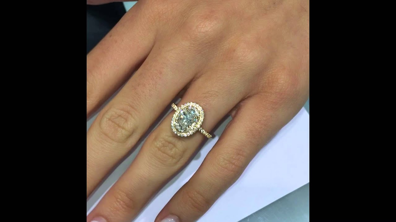 Oval Cut Diamond Engagement Ring In Yellow Gold Double Halo With Regard To Oval Shaped Yellow Diamond Rings (View 17 of 25)