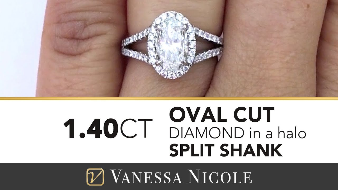 Oval Cut Engagement Ring | Split Shank Oval Diamond Ring For Bethany Intended For Oval Shaped Diamond Micropavé Engagement Rings (Gallery 21 of 25)