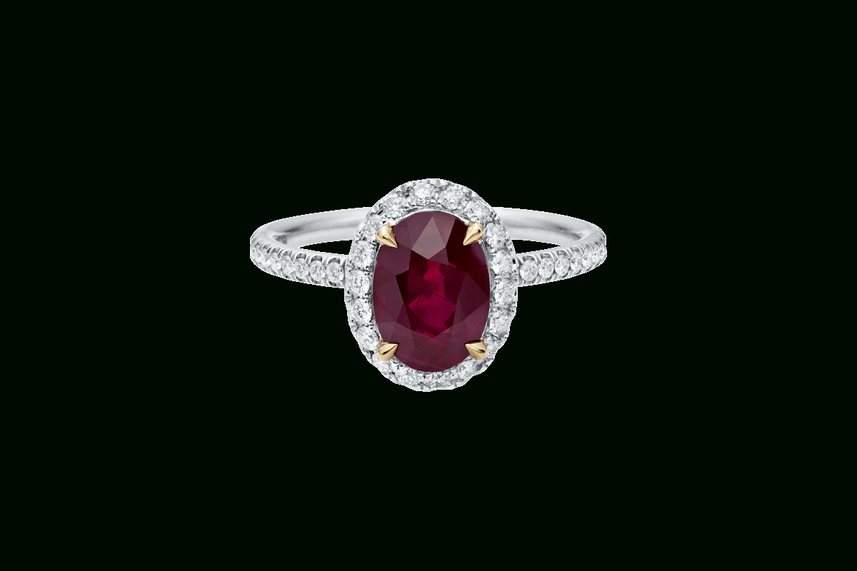 Oval Ruby Ring With Micropavé | Harry Winston Pertaining To Oval Shaped Ruby Micropavé Rings (View 2 of 25)