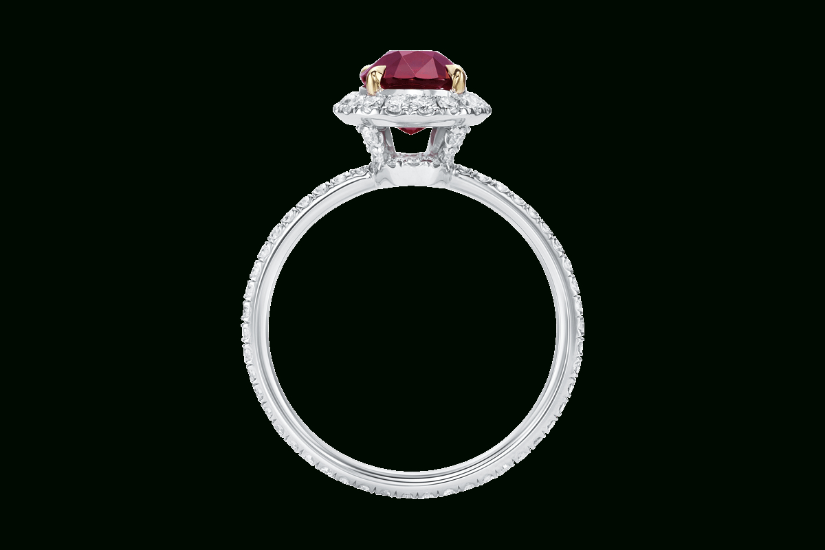 Oval Ruby Ring With Micropavé | Harry Winston With Oval Shaped Ruby Micropavé Rings (Gallery 1 of 25)