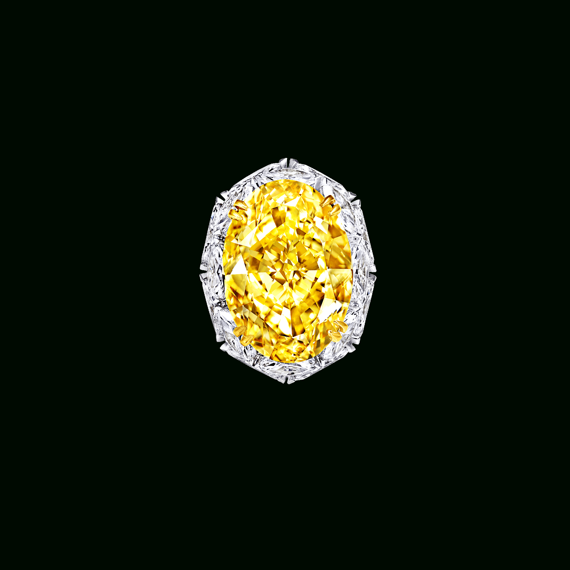 Oval Shape Yellow And White Diamond Ring | Luxury Jewelry In With Oval Shaped Yellow Diamond Rings (View 10 of 25)