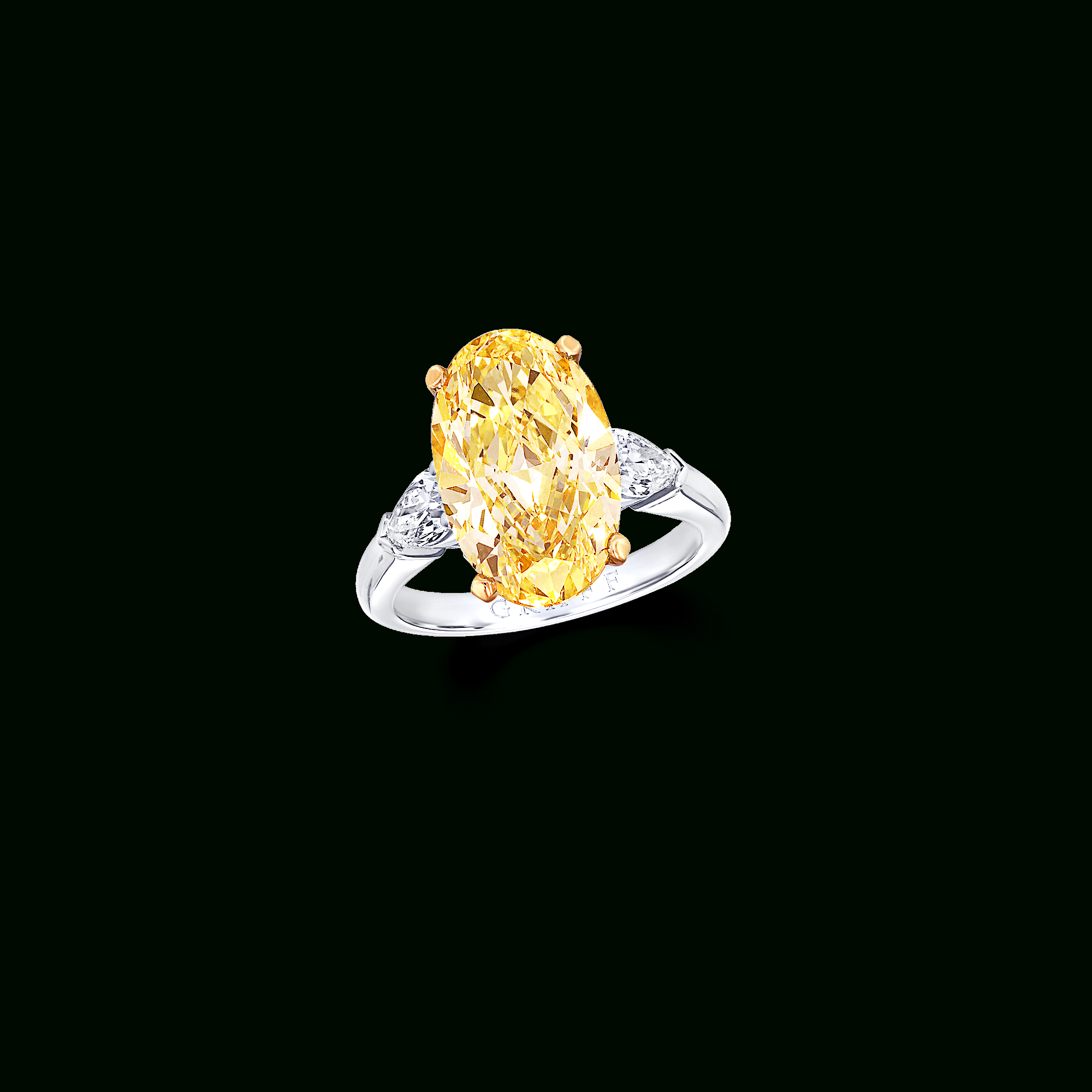 Featured Photo of Oval Shaped Yellow Diamond Rings
