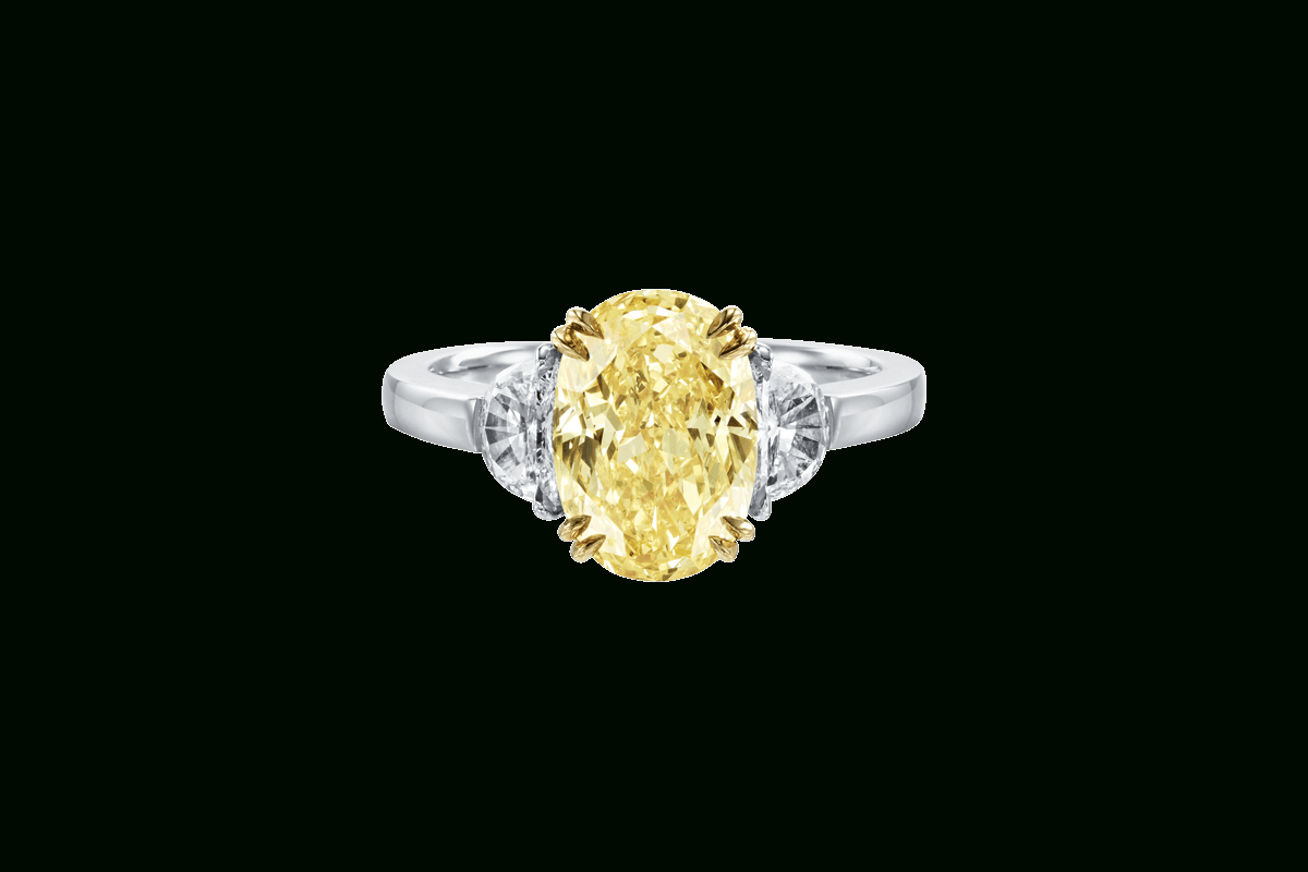 Oval Shaped Fancy Yellow Diamond Ring | Harry Winston Regarding Oval Shaped Yellow Diamond Rings (View 2 of 25)