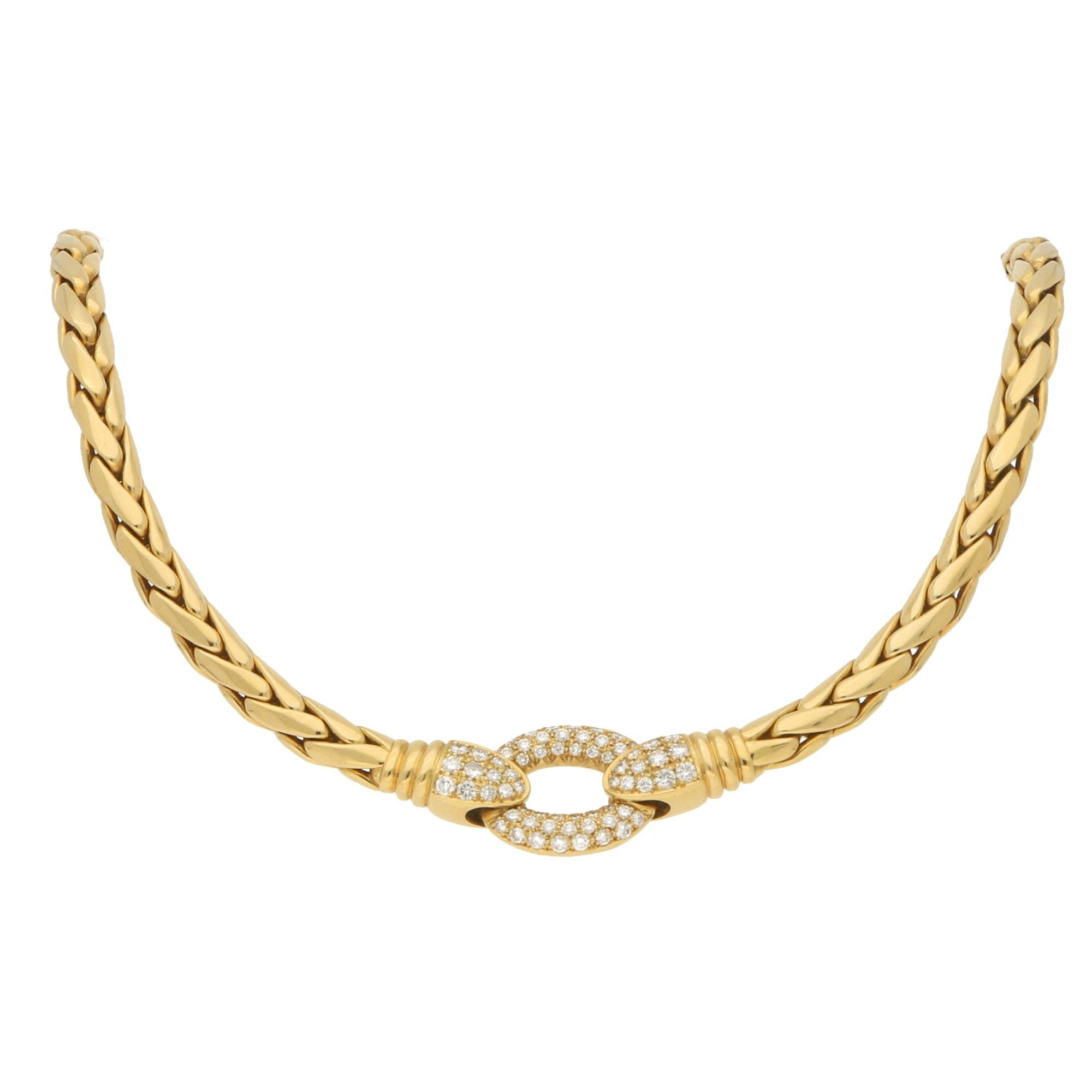 Patek Philippe Serpent Diamond Necklace In Yellow Gold With Regard To Latest Diamond Necklaces In Yellow Gold (View 9 of 25)