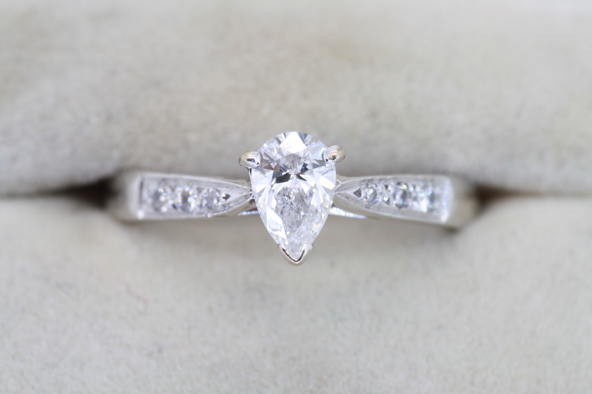 Pear Shape Diamond Engagement Ring With Pear Shaped Engagement Rings (View 7 of 25)