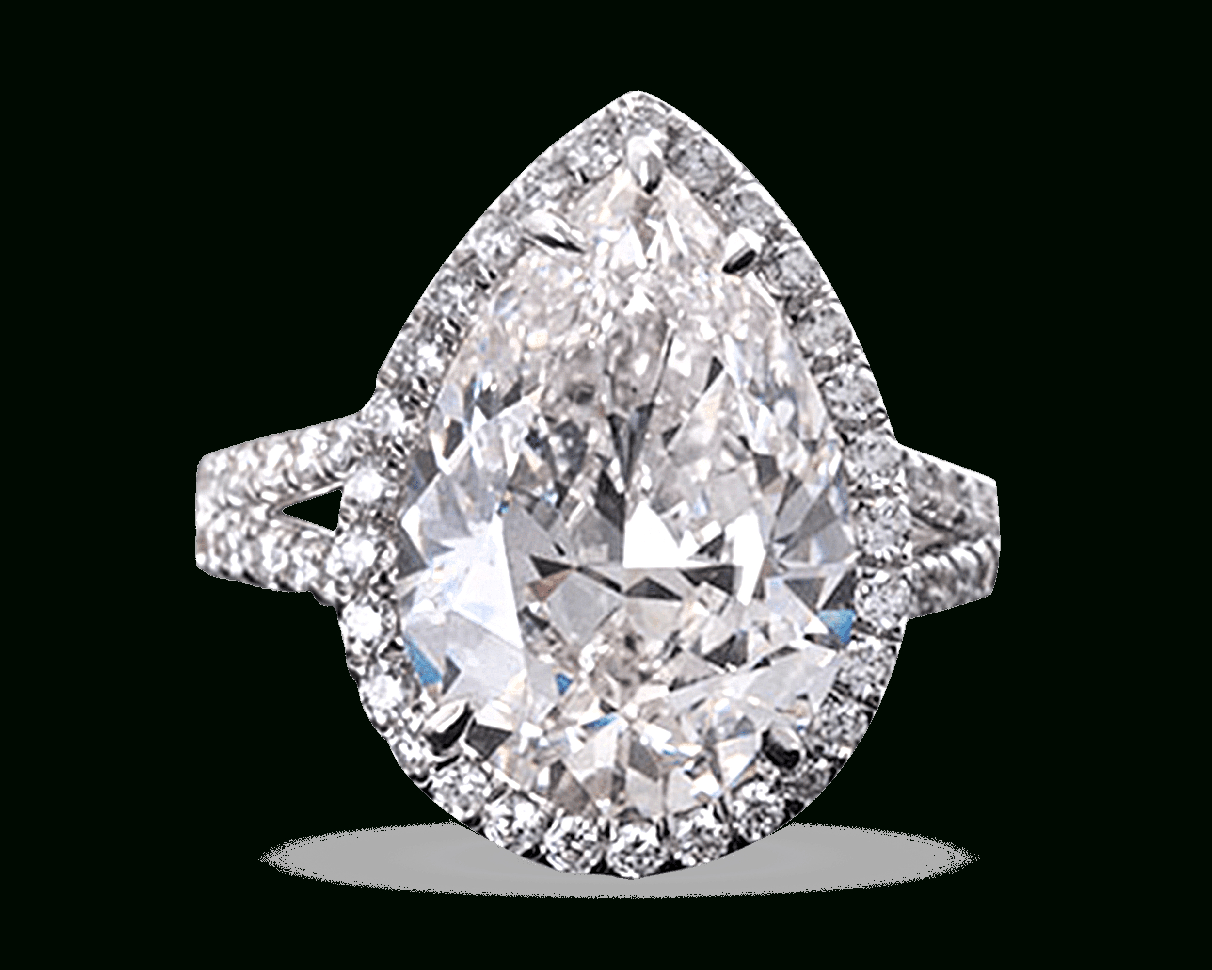 Pear Shaped Diamond Ring, (View 13 of 25)