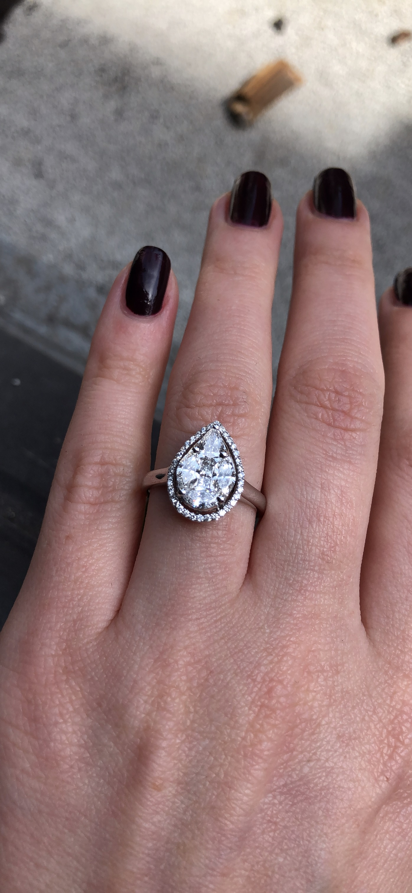 Pear Shaped Engagement Ring With (View 2 of 25)