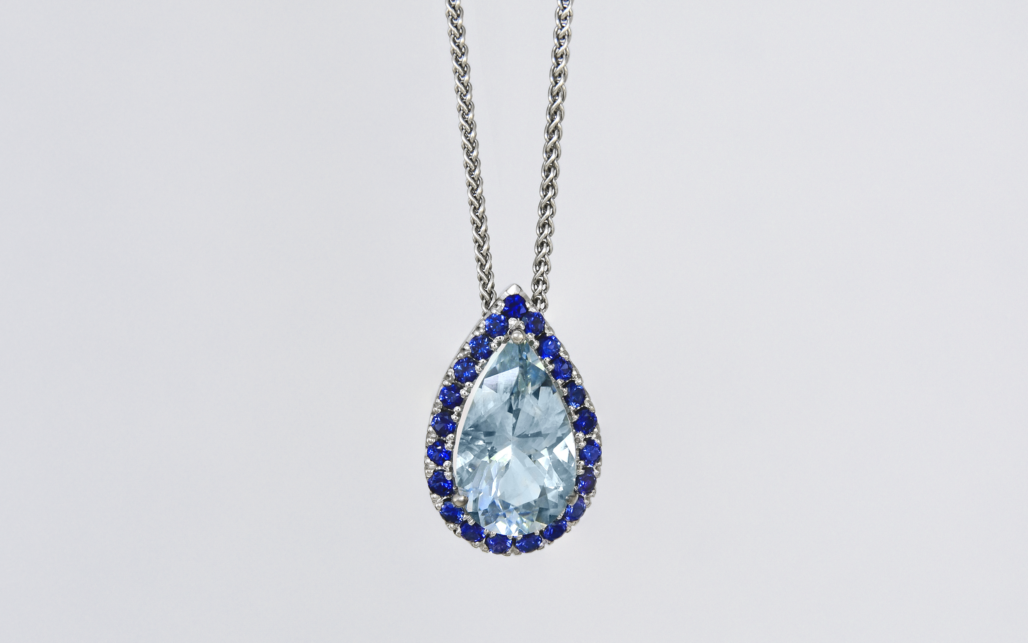 Pendants | Dutillesjewelry Pertaining To Most Recent Sapphire, Aquamarine And Diamond Necklaces (View 18 of 25)