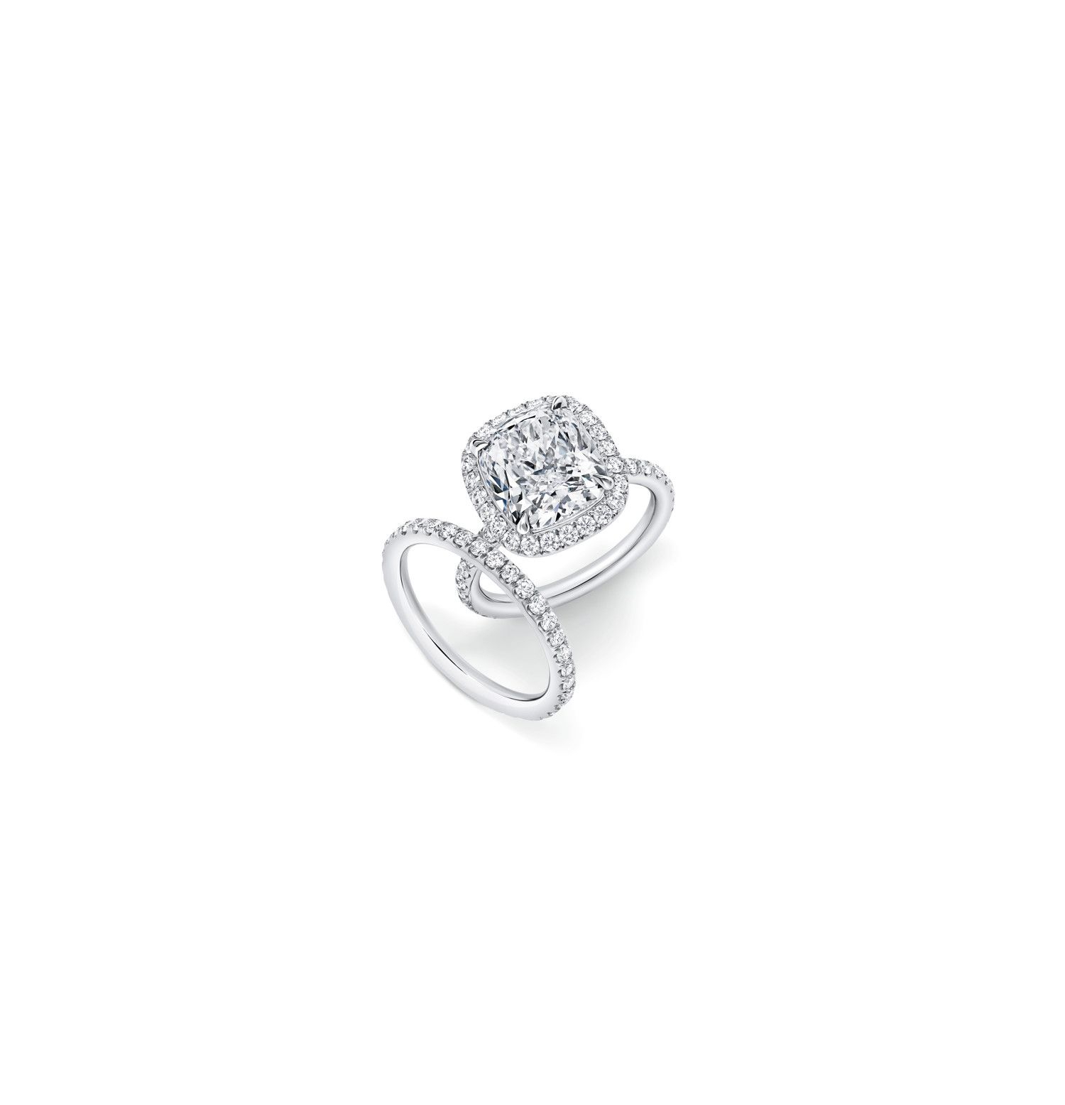 Pin On My Dream Jewelry Box Within Cushion Cut Diamond Micropavé Engagement Rings (View 9 of 25)