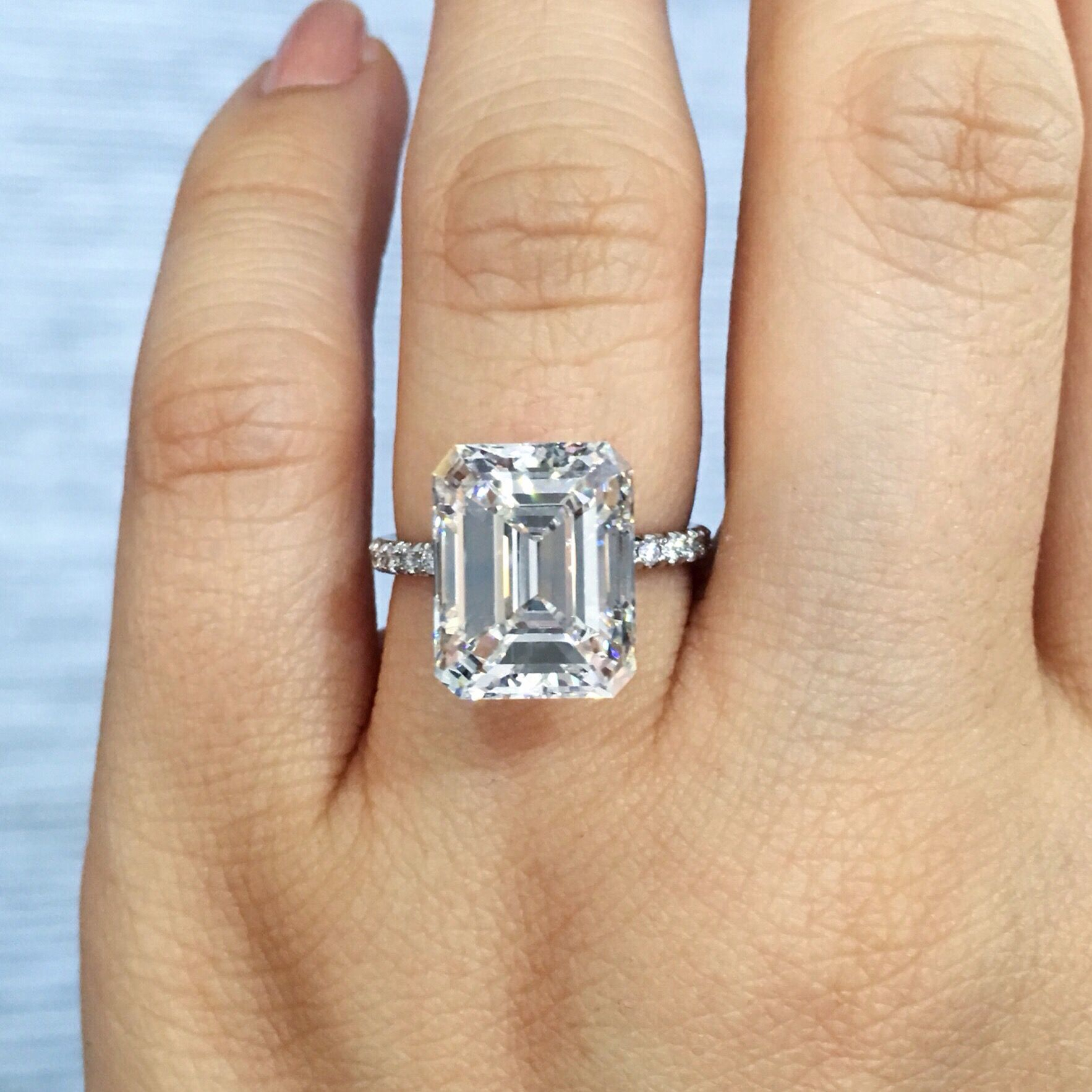 Pin On My Ring Regarding Solitaire Emerald Cut Engagement Rings (View 8 of 25)