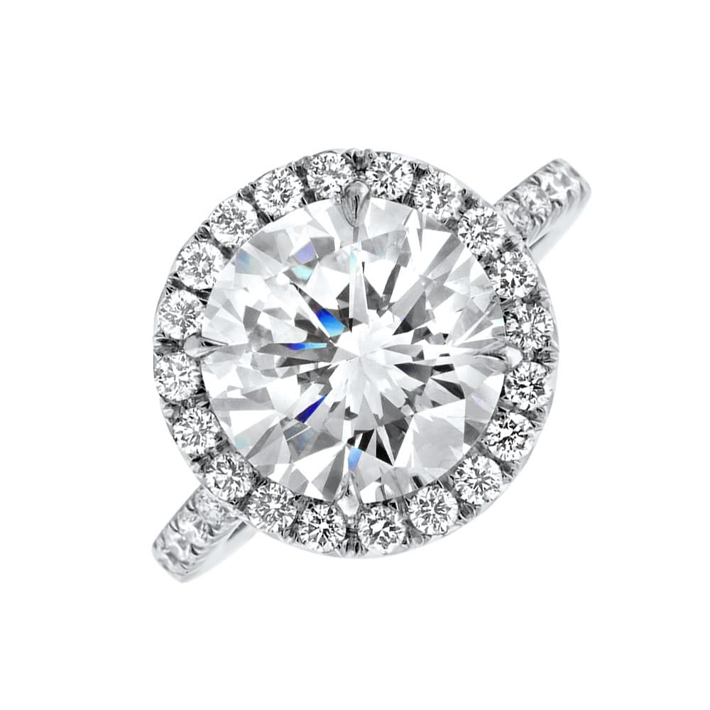 Platinum Engagement Ring Round Brilliant Cut Diamond With Center  (View 15 of 25)
