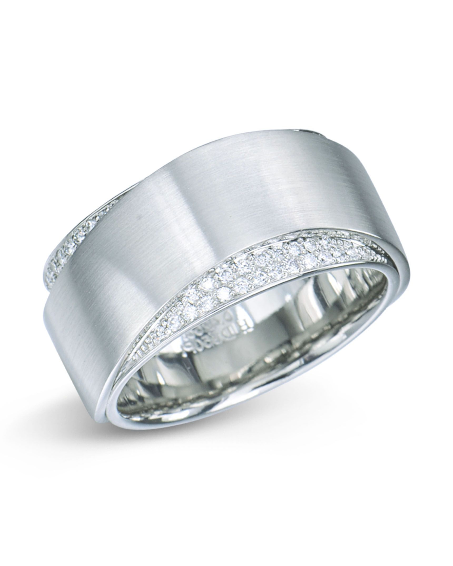 Platinum Wave Design Pavé Set Diamond Wedding Band In 2019 With Regard To Most Up To Date Wave Diamond Wedding Bands With Pavé (View 6 of 25)